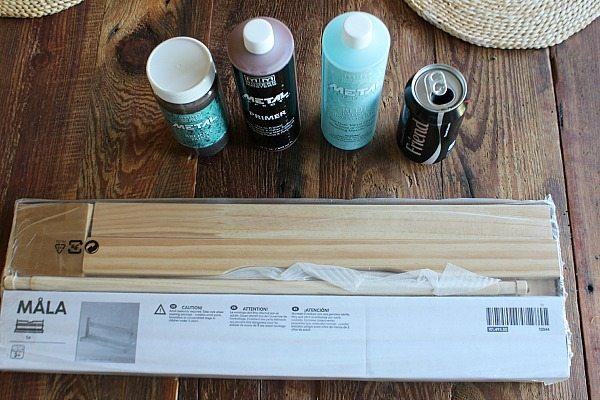 Ikea Hack Mala with Modern Masters Paint