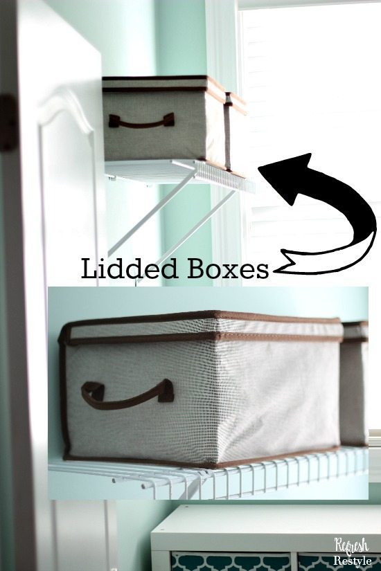 Laundry Room Lidded Boxes for Storage
