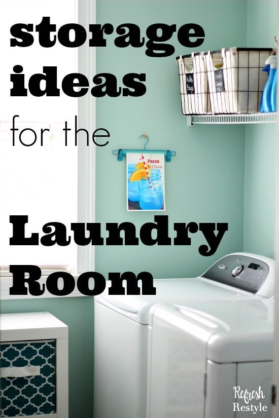 Laundry Room Makeover Storage Container Ideas