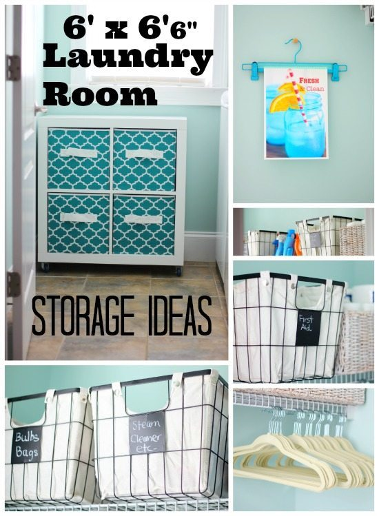 Laundry Storage Ideas to make it cute and functional