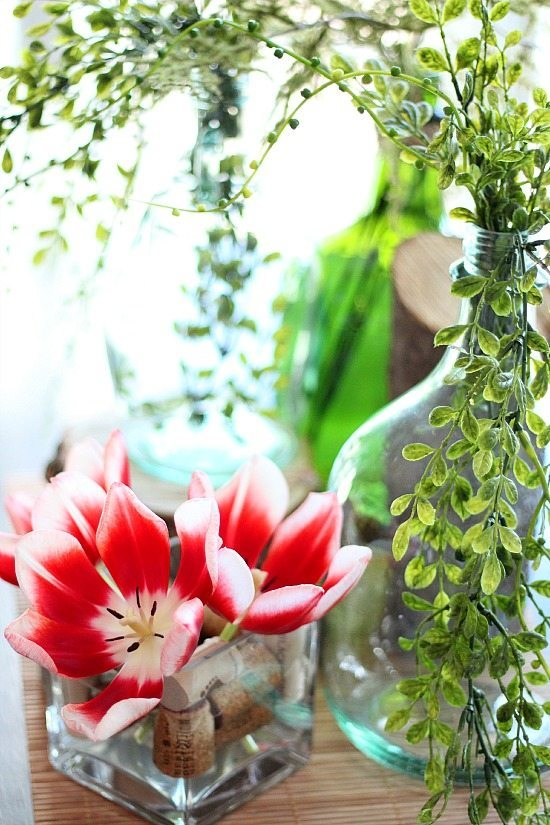 Shop your home for a spring centerpiece!