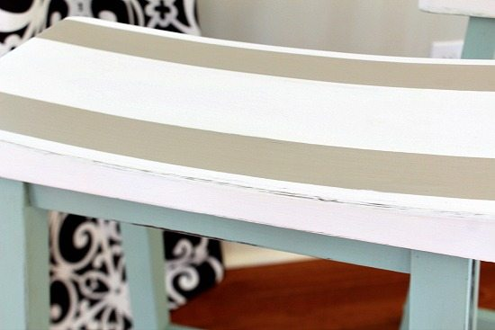 Striped bar stools to go with your decor.