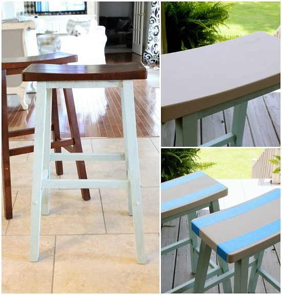 Painted bar stools to coordinate with your deocor
