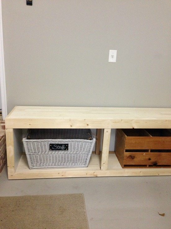 Mud Room Ideas a base cabinet!