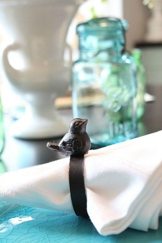 Cute little bird napkin rings