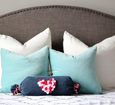 No Sew Denim Pillow