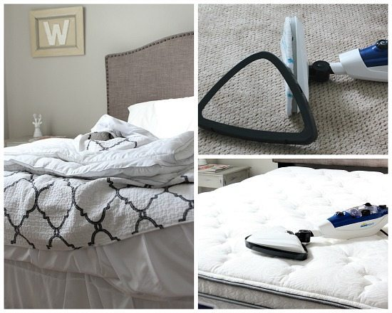 Freshen your mattress with a HomeRight steamer and a few drop of lavender in the water.