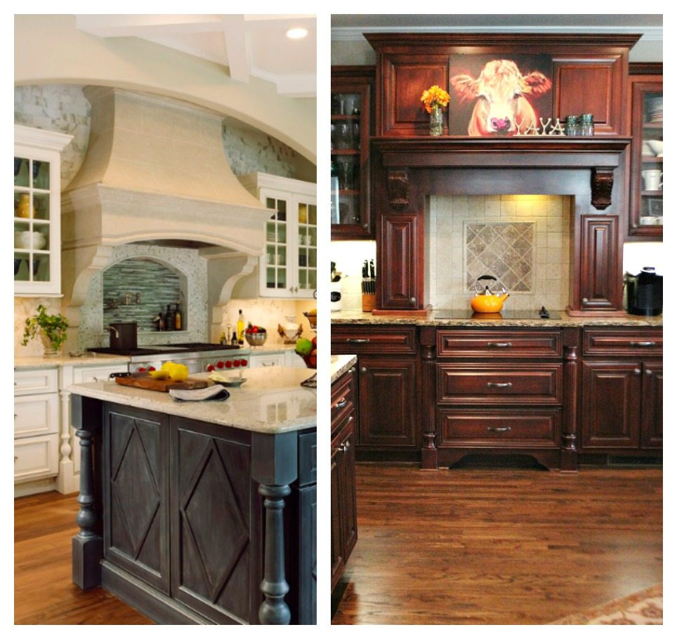 Ideas for painting Kitchen cabinets with dark floor