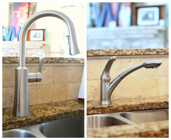 Moen Etch spot resist stainless one-handle high arc pulldown kitchen faucet