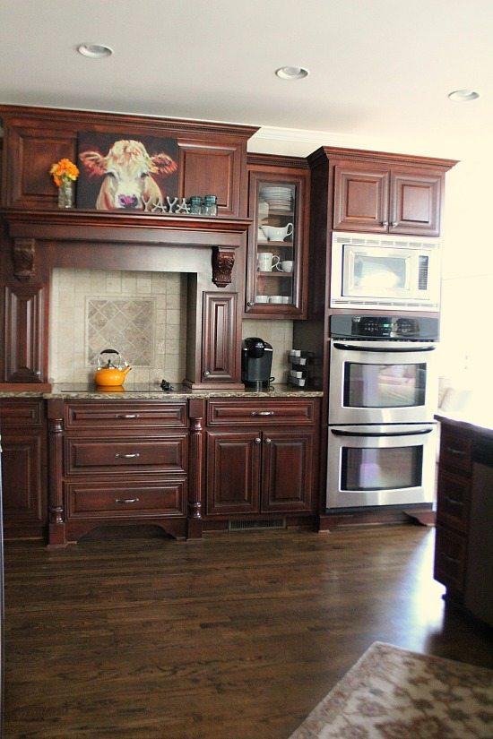 State of the Kitchen - Kona stain on kitchen floors.