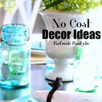 No Cost - Free decor ideas