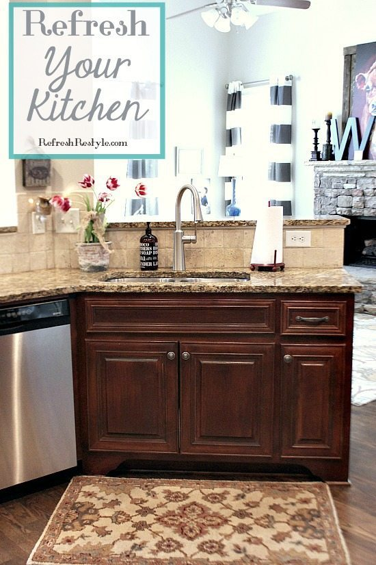 Refreshing Mini Kitchen spruce up with a new faucet.