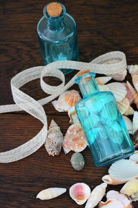 Aqua bottles for bath salt gifts