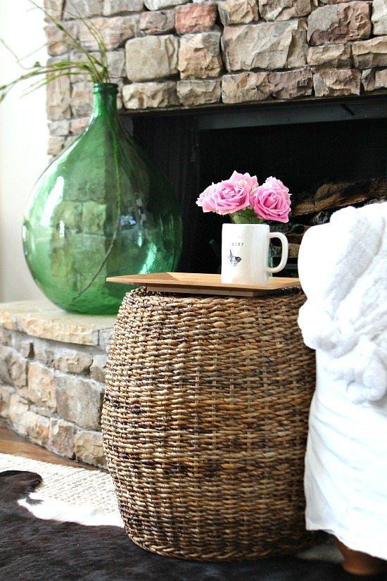 Cozy spot by the fireplace