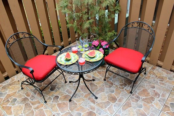 Patio Refreshed With Color