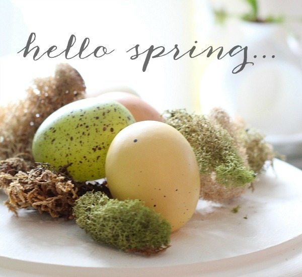Fresh spring ideas, free decor, shop your house