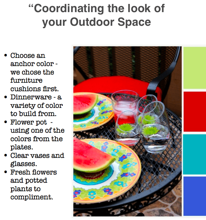 Choosing color for your outdoor space.
