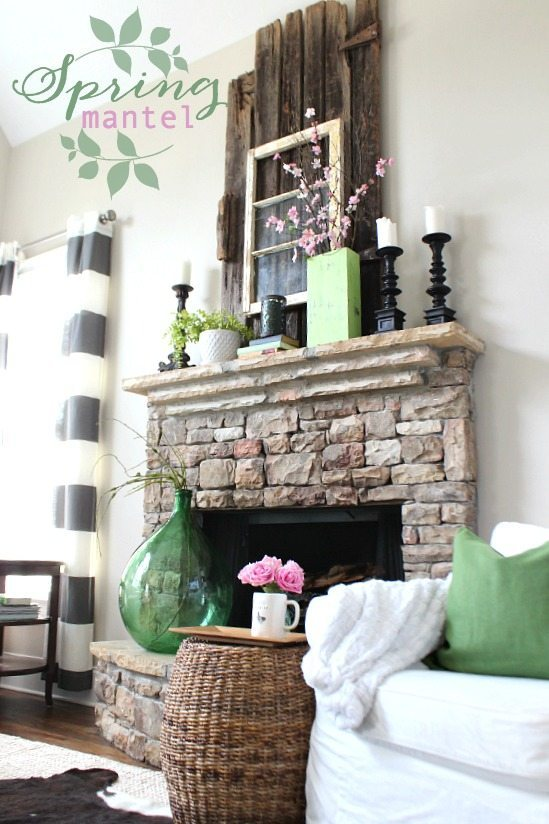Spring Mantel Ideas from Refresh Restyle