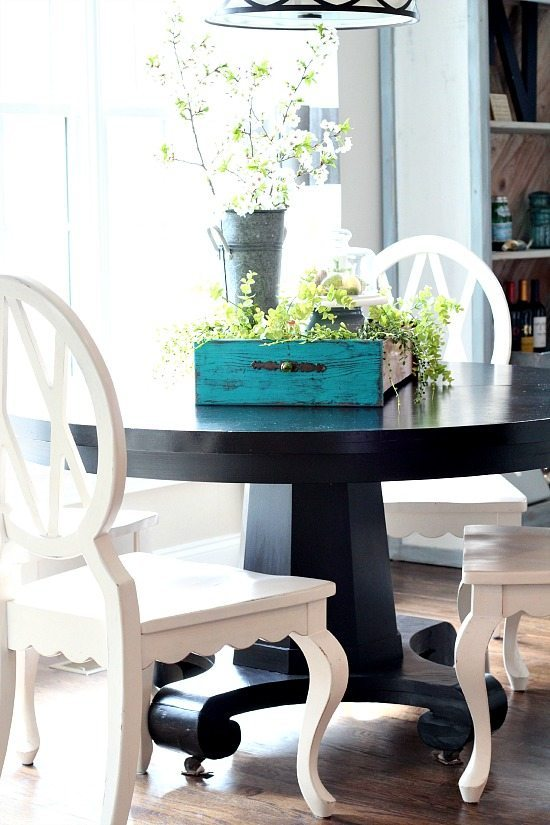 Spring tablescape idea with no cost decor