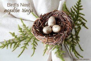 how-to-make-birds-nest-napkin-rings-uncommon-designs