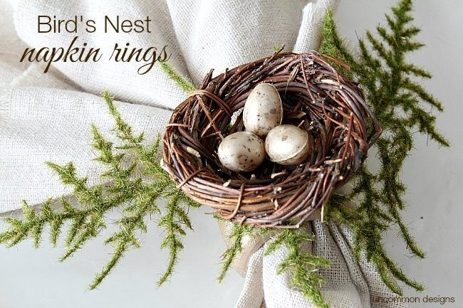 how-to-make-birds-nest-napkin-rings-uncommon-designs