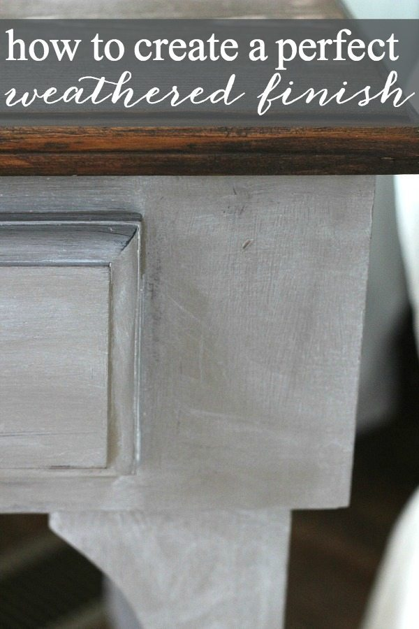 perfect finish on a recycled side table.
