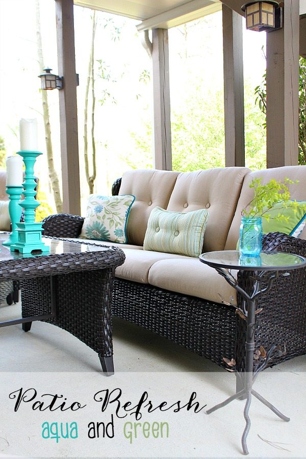Aqua and Green patio refresh