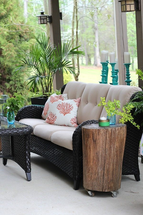 Coral and Teal Patio Ideas
