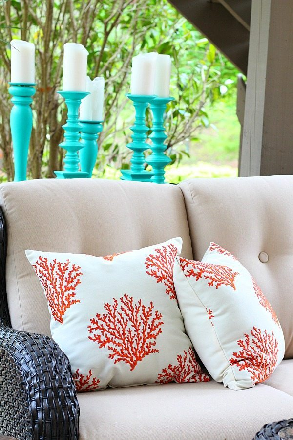 Coral reef pillows for under $14