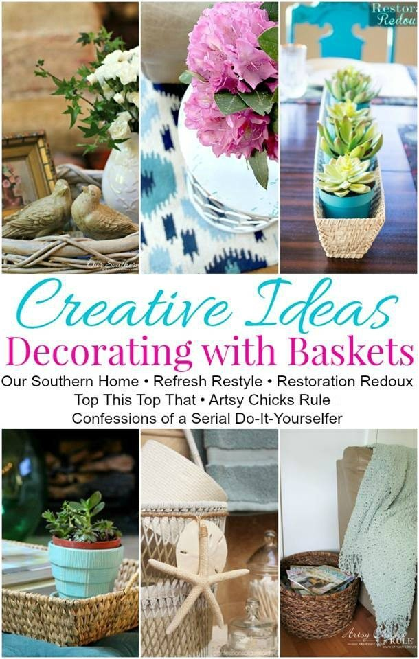 Creative Ideas for using baskets
