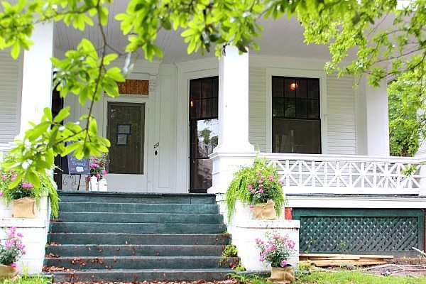 Front porch of the Idea House Southern Romance Mobile Al