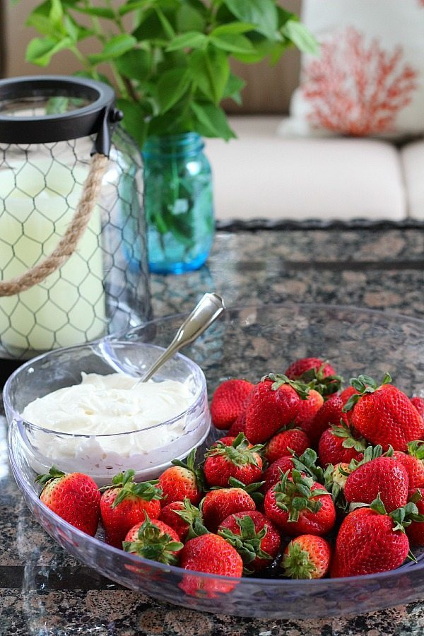 Fruit Dip recipe with strawberries