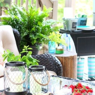 Patio party decor ideas and a recipe