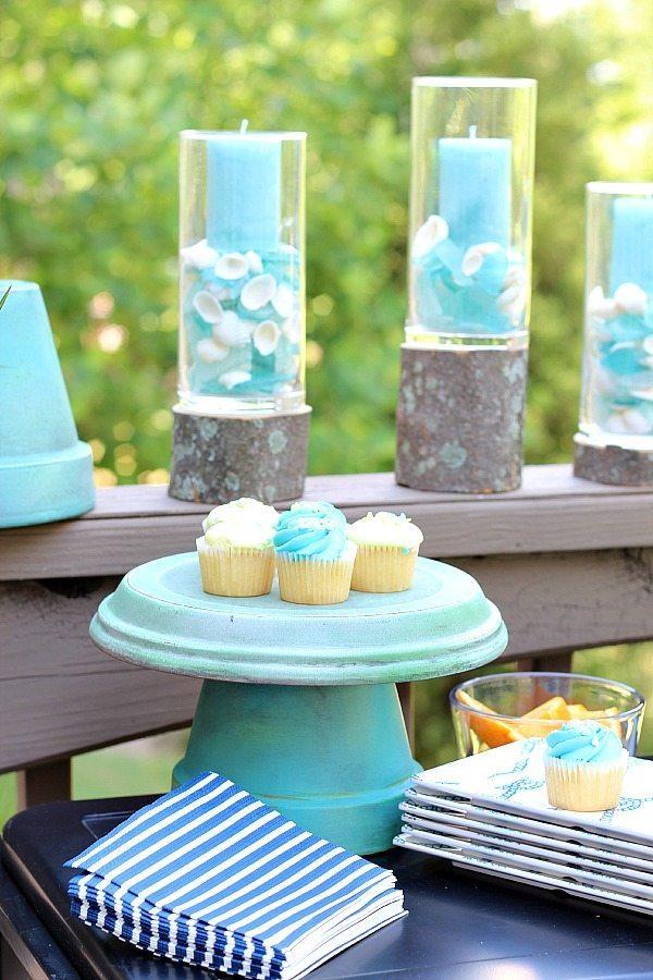 Aquas and greens clay pot for picnic serve ware