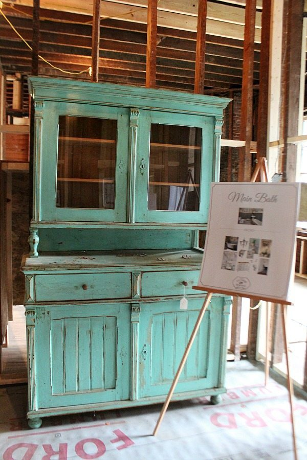 Beautiful aqua antique that will be used in the Southern Romance home
