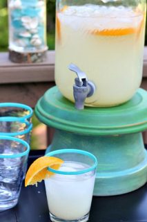Drink dispense on top of clay pots