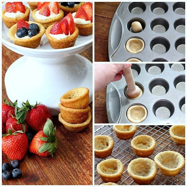 Fruit Filled Cookie Cups #recipe