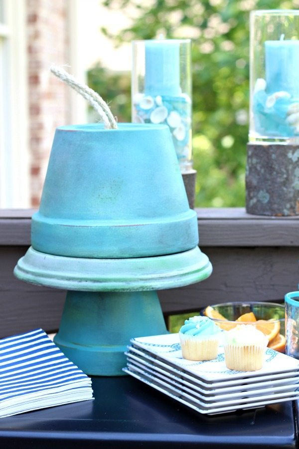 Garden party serve ware ideas for clay pots
