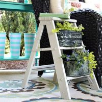 How to make a ladder side table planter
