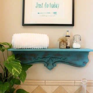 How to make a shelf and paint it with spray chalk paint by Krylon