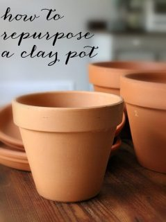 How to repurpose a clay pot