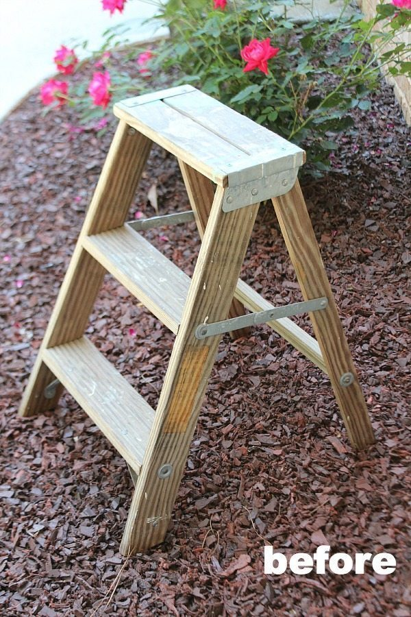 How To Repurpose A Ladder, Make A Planter Out Of It