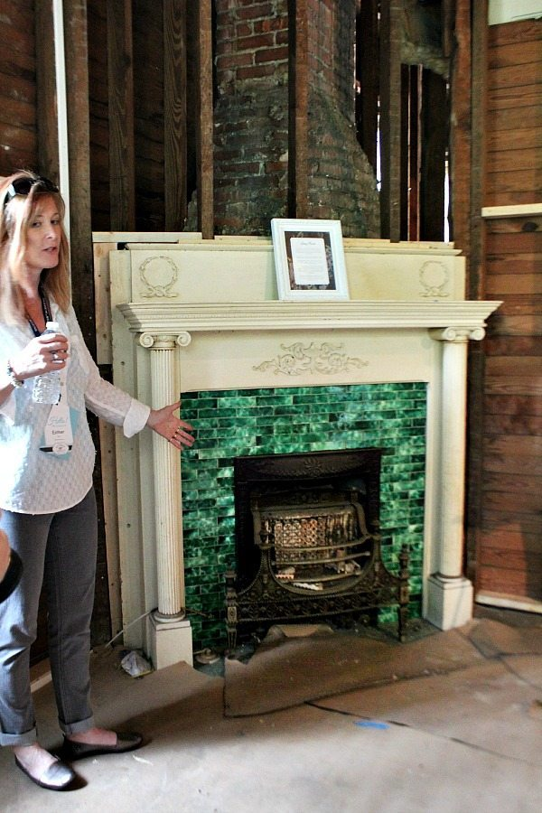One of the beautiful fireplaces in the Southern Romance Home