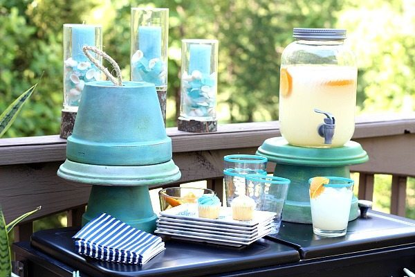 Repurpose clay pots for summer serving pieces
