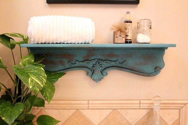 Shelf Repurposed Inspired By Decor Steals With Krylon Chalky Spray Paint