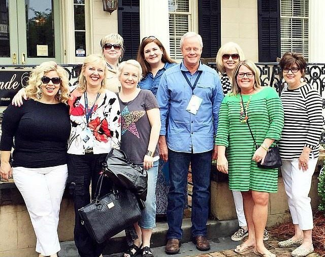 Danny Lipford with the bloggers at Southern Romance