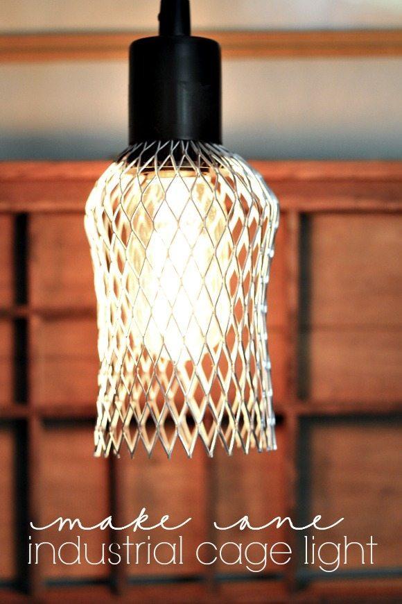 Diy Industrial Cage Light