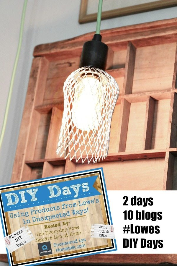 Farmhouse DIY Cage Light #lowes DiY Days