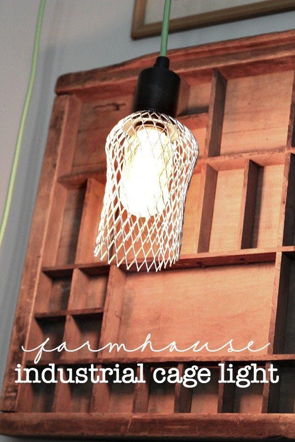 Farmhouse DIY Cage Light