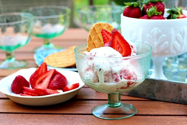Fresh Strawberry Ice Cream- recipe